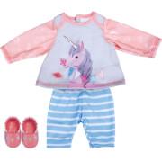 Schildkröt Puppen-Outfit ''Einhorn'' inkl. Schuhe