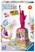 Ravensburger 125975  3D Puzzle Freiheitsstatue Pop-Art Edition 108 Teile