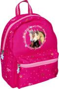 Kindergartenrucksack Pferdefreunde (pink mit Glitzer)