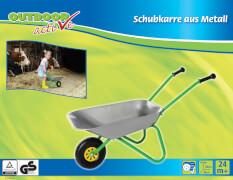 Outdoor active Schubkarre-Metall, silber/grün