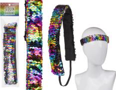 Pailletten-Haarband Rainbow 25cm