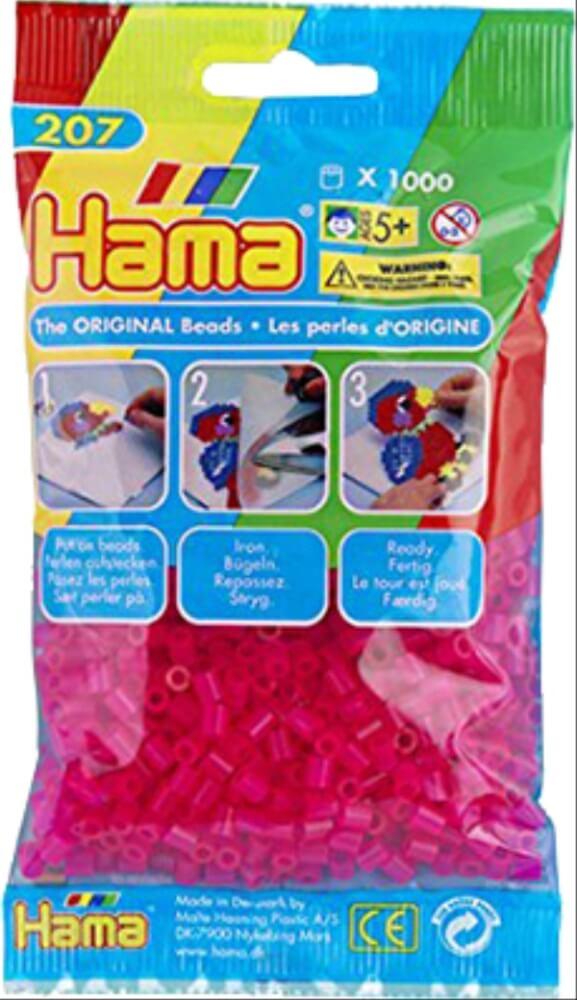 Hama Bügelperlen Midi Pastell Pink 1000 Perlen Spielzeug
