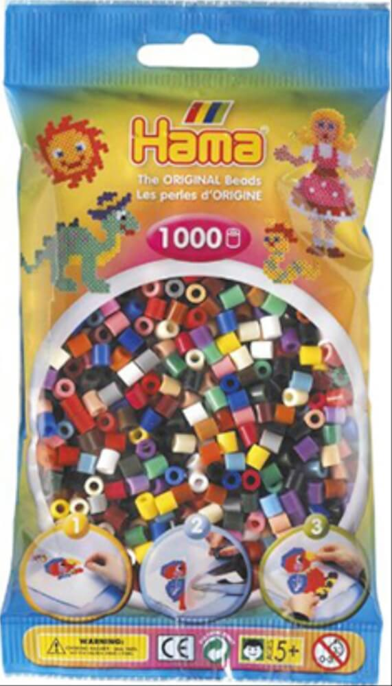 Leuchtgrün 1.000 Stück Offen Hama Perlen
