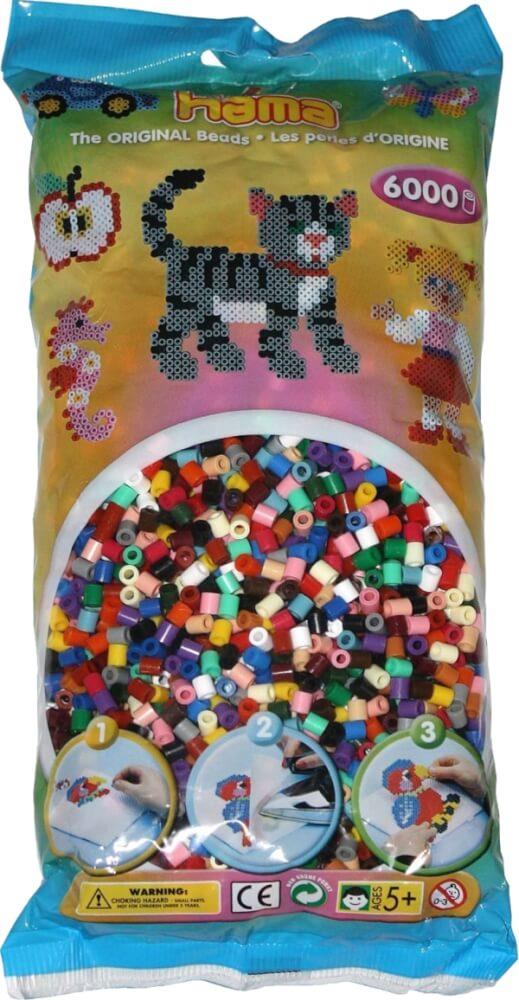 Fein Hama Bügelperlen Maxi 7 Farben Vollton Mix 250 Perlen